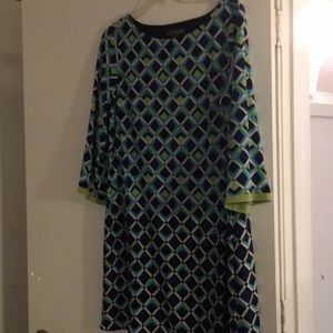 Jessica Howard Knit Shift Dress Sz 16